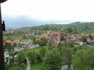 гледка от замъка Бран Дракула