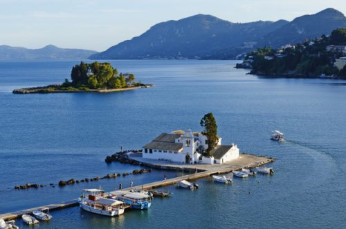 остров Корфу манастира Влачерна