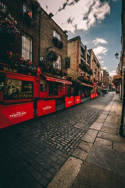 центърът на Дъблин Ирландия