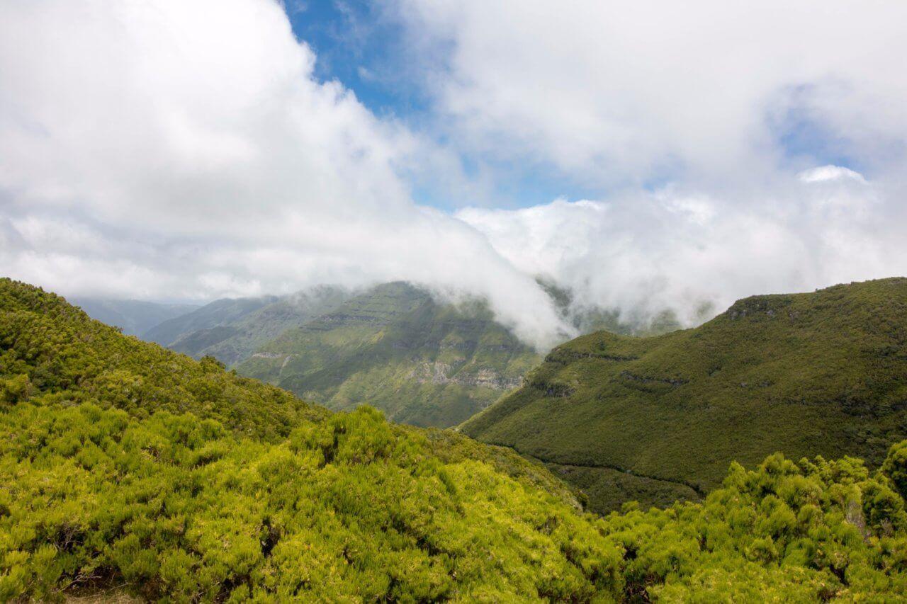 планинска гледка на Мадейра